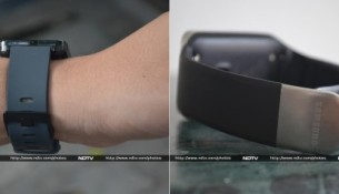 LG G Watch (left) and Samsung Gear Live.